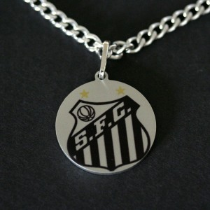 Necklace / Chain Stainless Steel with Pendant Santos