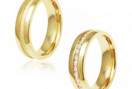 Novidades : Alianças de Namoro ou Compromisso Folheado a Ouro